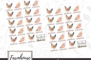 Planning stickers from Farmhouse Sticker Co