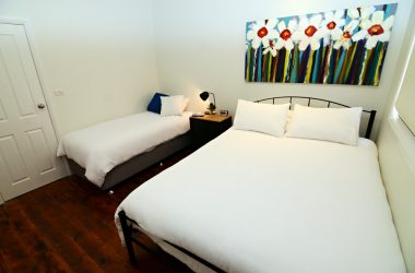 One of the bedrooms at Thelmas Temora